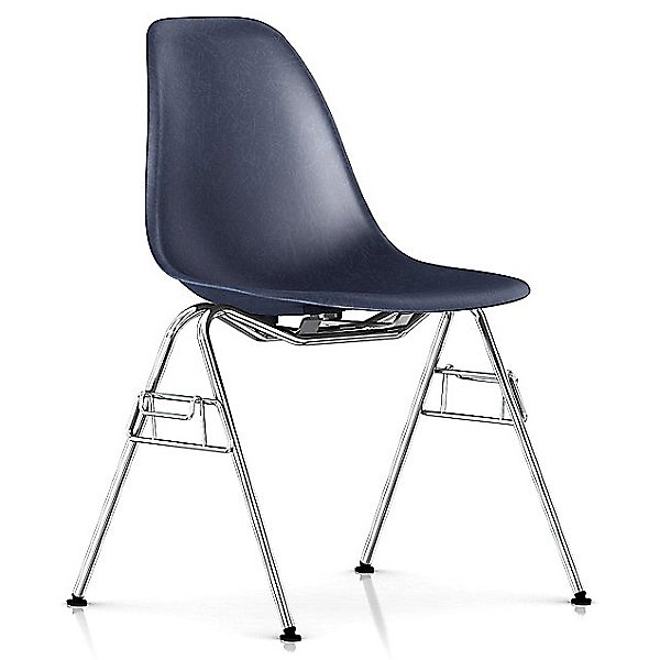 Eames Molded Fiberglass Side Chair with Stacking/Ganging Base