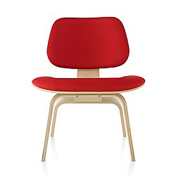 Eames Molded Plywood Lounge Chair with Wood Legs, Upholstered