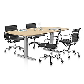 White Ash/White-Polished Aluminum pictured with Eames Aluminum Group Management Chair (sold separately)