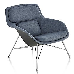 Striad Low Back Lounge Chair, Wire Base