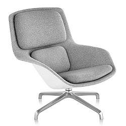 Striad Mid Back Lounge Chair, 4 Star Base