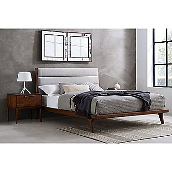 Mercury Upholstered Platform Bed / side view