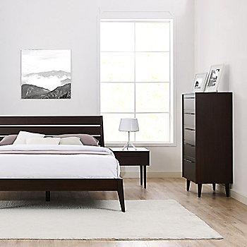 Sienna Platform Bed and Sienna Nightstand (sold separately)