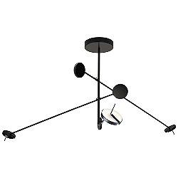 Invisible LED 2-Arm Pendant Light