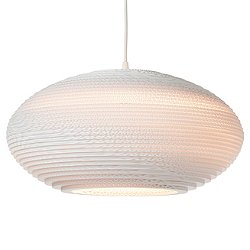 Disc Scraplight White Pendant Light