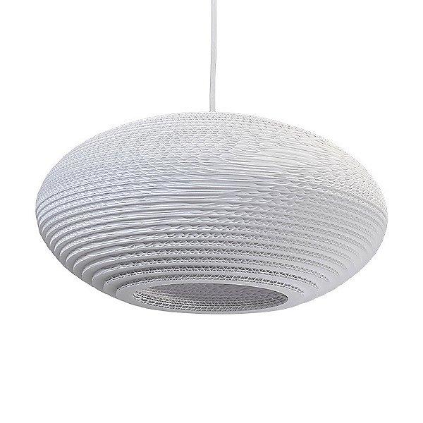 Disc Scraplight White Pendant Light