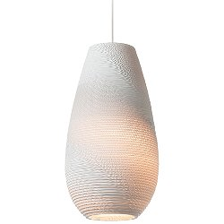 Drop Scraplight White Pendant Light