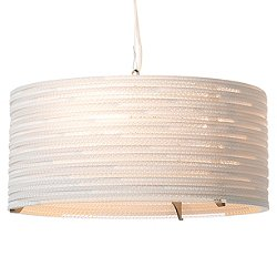 Drum White Scraplight Pendant Light