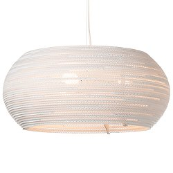 Ohio Scraplight White Pendant Light