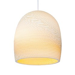 Bell Scraplight Natural Pendant Light
