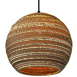 Moon Scraplight Natural Pendant Light (Medium/E26) - OPEN BOX RETURN