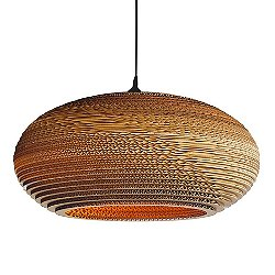 Disc Scraplight Natural Pendant Light (Large/E26)-OPEN BOX