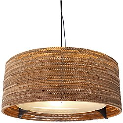 Drum Scraplight Pendant (Medium/E26 Medium Base)-OPEN BOX