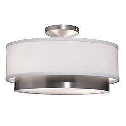 Piatto Semi-Flush Mount Ceiling Light