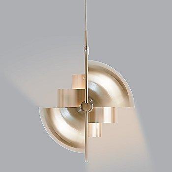 Matte White with Brass finish, illuminated