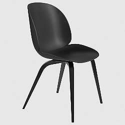 Replacement Wooden Base for Beetle Dining Chair (Black Stained Beech) - OPEN BOX RETURN