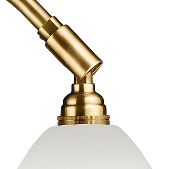Shown in Brass with Matte White finish