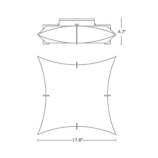 Bento Large Semi-Flush Mount Ceiling Light