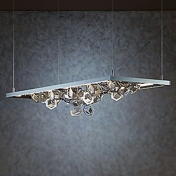 Burnished Steel finish / Soft Gold Shade color, in use