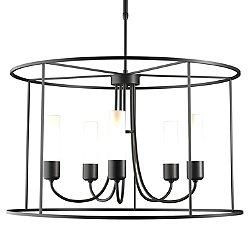 Portico Drum Outdoor Pendant Light