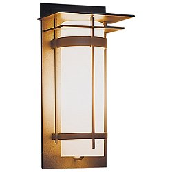 Banded Aluminum Sconce - 305992 (Opal/Iron/Small) - OPEN BOX