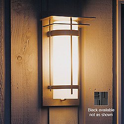 Banded Outdoor Wall Sconce-305993 (LED/Blk/Stone) - OPEN BOX