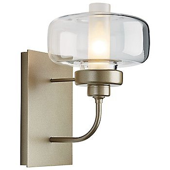 Clear with Frosted Inner Glass, Soft Gold finish
