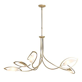 Shown in Soft Gold finish with Frosted glass