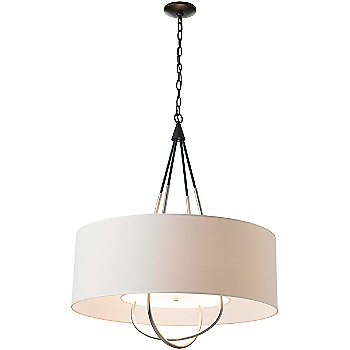 Shown in Black finish with Natural Linen shade color