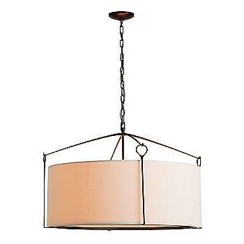 Shown in Natural Linen shade with Bronze finish