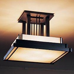 Steppe Large Semi Flush Ceiling Light(Black/White)- OPEN BOX