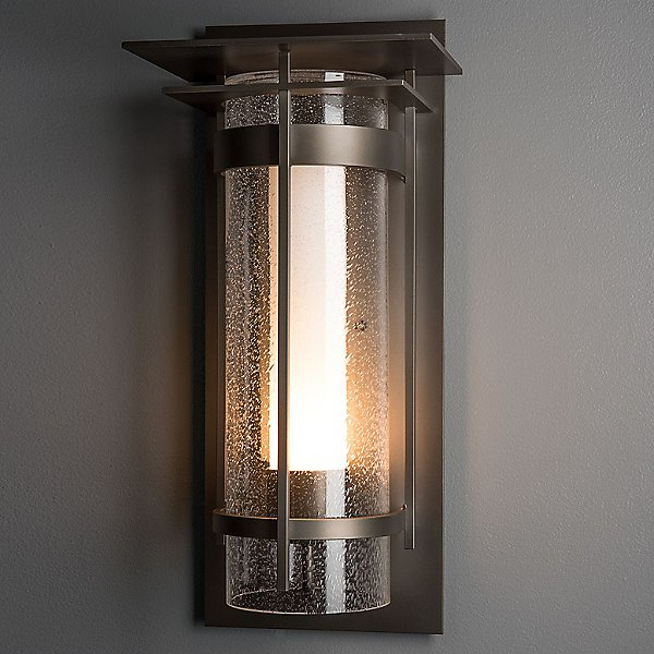 Banded Outdoor Wall Sconce with Top Plate