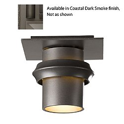 Twilight Coastal Outdoor Semi Flushmount (Smoke/L)- OPEN BOX