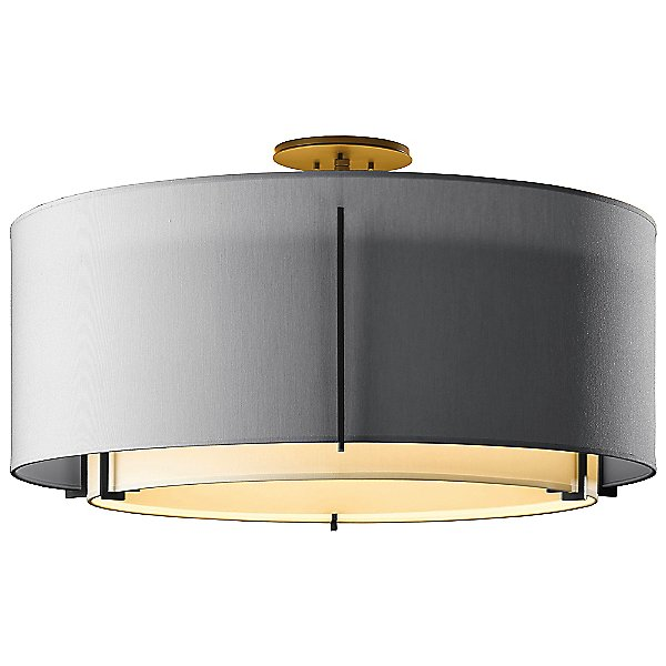 Exos Large Round Double Semi-Flush Mount Ceiling Light
