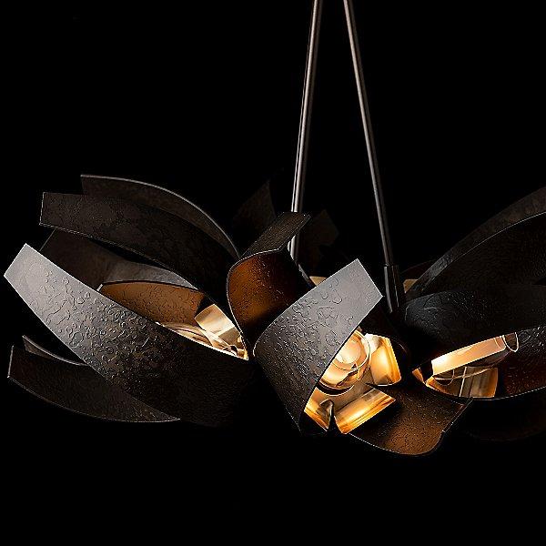 Corona Brass Accent Pendant Light