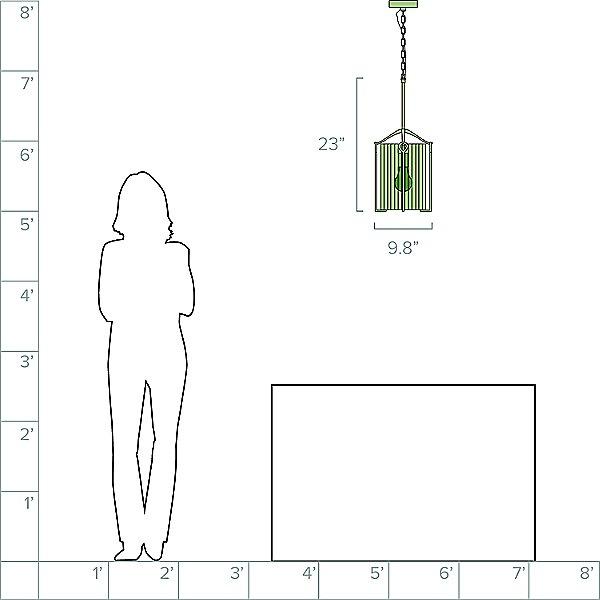 Bow Tall Mini Pendant Light