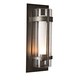 Banded Seeded Glass Outdoor Wall Light