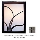 Forged Reeds Wall Sconce (Ivory/Natural Iron/Left)-OPEN BOX