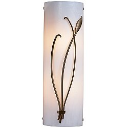 Forged Leaf & Stem Wall Sconce (White/Bronze/Right)-OPEN BOX