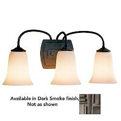 Simple Lines 3-Light Bath Bar (Opal/Dark Smoke) - OPEN BOX