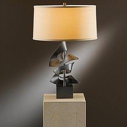 Gallery 273050 Twofold Table Lamp (Doeskin/Smoke) - OPEN BOX