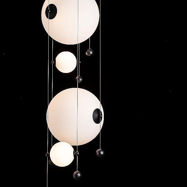 Abacus Round LED Multi-Light Pendant Light