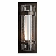 Banded Seeded Glass Wall Sconce(Black/Small)-OPEN BOX RETURN