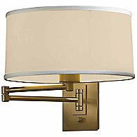 Simple Swingarm Wall Sconce (Flax/Gold) - OPEN BOX RETURN