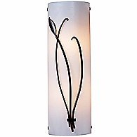 Forged Leaf & Stem Wall Sconce (White/Smoke/Left) - OPEN BOX