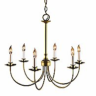 Simple Lines Six Arms Chandelier (Gold) - OPEN BOX RETURN