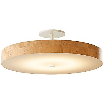 Shown in Gloss White finish With Cork Shade color, Large size