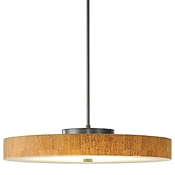 Burnished Steel finish with Cork shade color, Large size