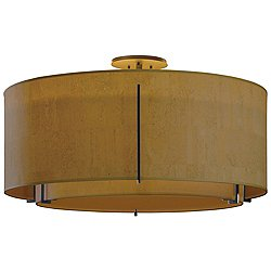 Exos Round Double Semi-Flush Mount Ceiling Light