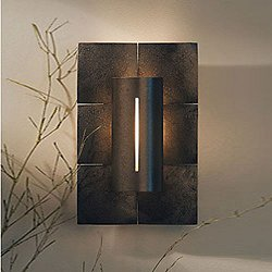 Mosaic Wall Sconce with Colored Glass Inserts